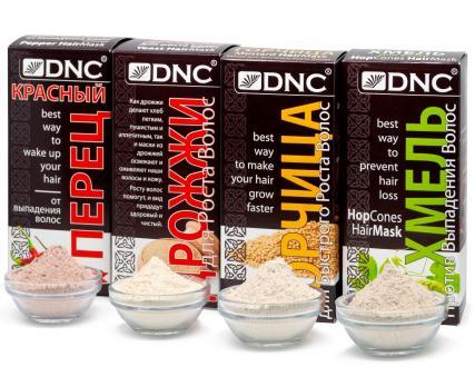 DNC Набор для волос: Хмель, Дрожжи, Горчица, Красный перец