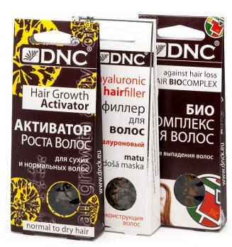 DNC  Активатор роста д/сух. и норм. волос, Биокомплекс против выпад.  волос, Филлер для волос