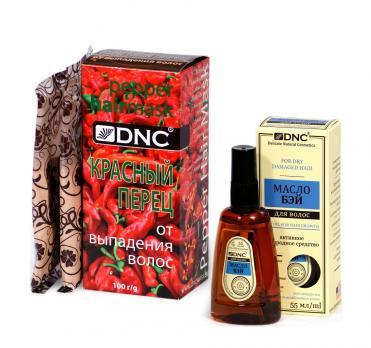 DNC Набор для волос: Масло Бэй и Красный перец от выпадения (55 мл, 100 г)