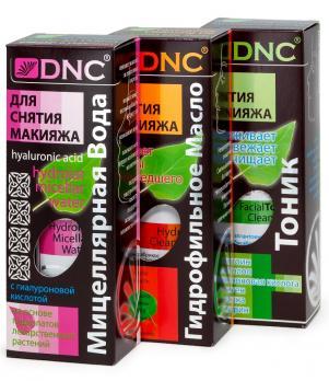 DNC Набор для снятия макияжа: Гидрофильное масло, Миц.вода, Тоник (3х170 мл).