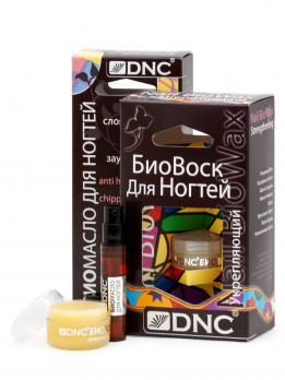 DNC Набор для ухода за ногтями: Биовоск укрепляющий и Биомасло для слоящихся ногтей против заусенец