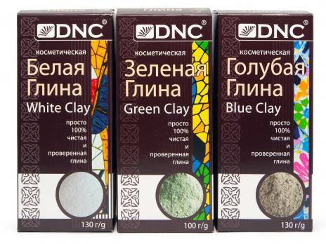 DNC Глина голубая 130г, Белая 130г, Зеленая 100г