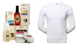 Набор: Джемпер + DNC косметических масел: Аргана, Ши, Кокосовое (55мл., 80 мл., 60мл)