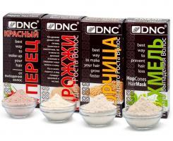 Набор: Футболка + DNC для волос: Хмель, Дрожжи, Горчица, Красный перец