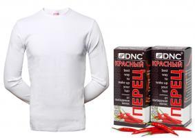 Набор : Футболка + DNC Маска Красный перец для волос от выпадения, набор из 2 шт, 100 г
