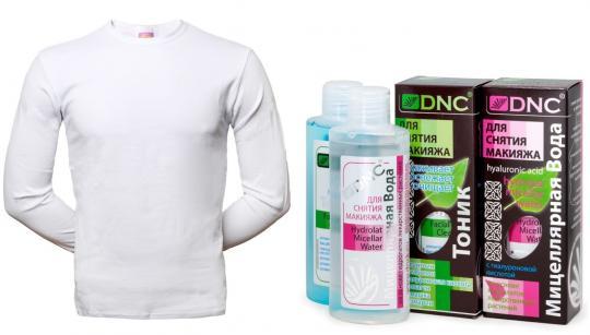 Набор: Футболка + DNC Мицеллярная вода и Тоник для снятия макияжа